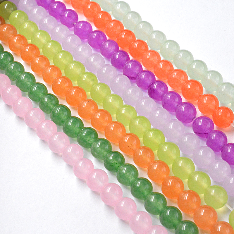 wholesale Free Shipping Natural Stone Mixed Color Jades Round Loose Beads 4 MM Pick Size for Jewelry Making Bracelet Necklace