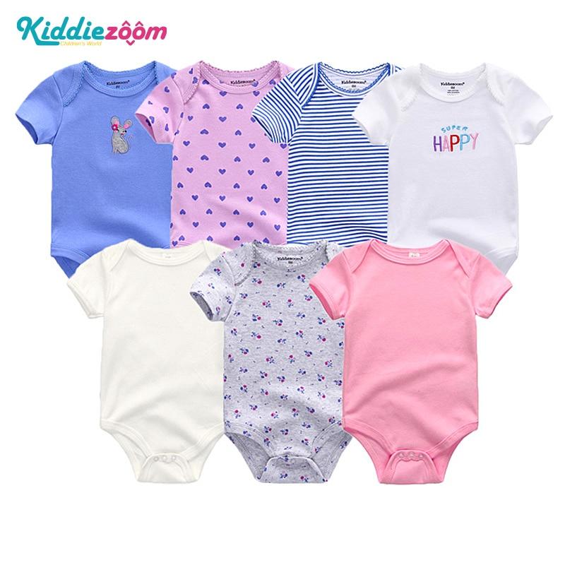 Uniesx Newborn Baby Rompers Clothing 7Pcs/Lot Infant Jumpsuits 100%Cotton Children Roupa De Bebe Girls&Boys Baby Clothes 1