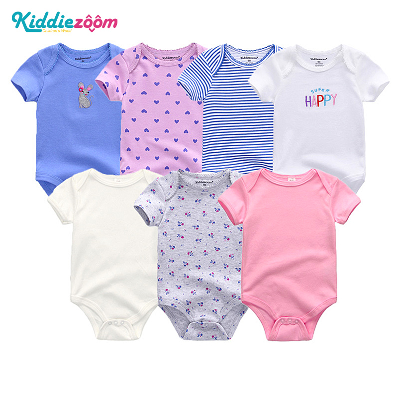 Uniesx Newborn Baby Rompers Clothing 7Pcs/Lot Infant Jumpsuits 100%Cotton Children Roupa De Bebe Girls&Boys Baby Clothes цена