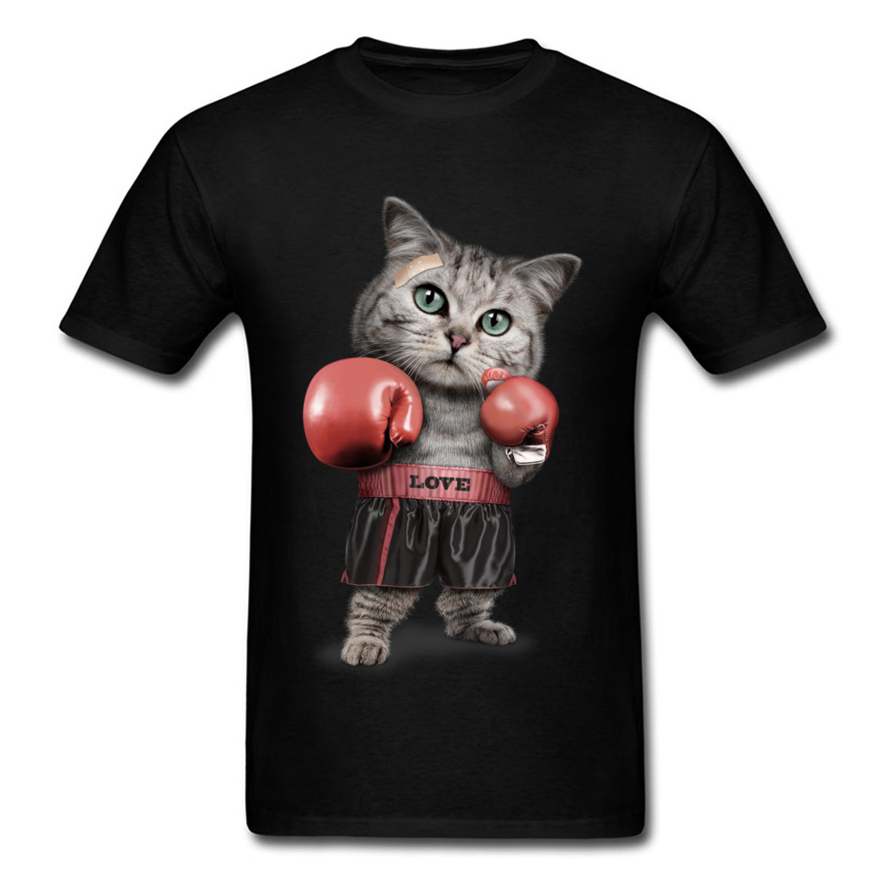Come Meow! Men T Shirt 3D Boxer Cat T-shirt Lovely Designer Clothing Custom Woman Tshirt Funny Tops Birthday Gift Tees