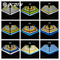 QCDIN 2Pcs Car Angel Wings LED Welcome Lights High Brightness Car Door Projector Decorative Lamp Universal For All Car Model