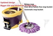 Rotating squeeze mop bucket rotation automatic