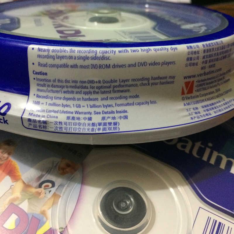 image regarding Verbatim Printable Dvd R titled Wholesale Verbatim Printable DVD discs 8X DVD+R DL, 10personal computers\u003d a great deal \u003d a pack 8.5G blank dvd dl
