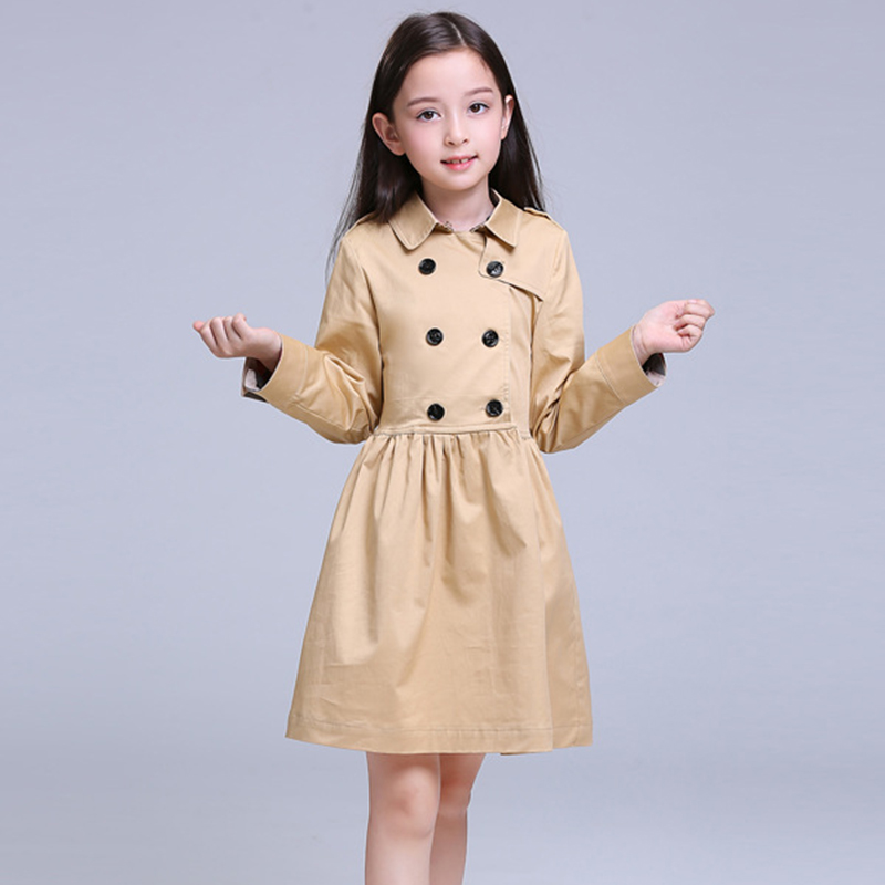 Brand Girls Dress Cotton Spring\autumn 100% Cotton Long Sleeve Stitching Classic Princess for Chidlren High Quality 6y-12yBrand Girls Dress Cotton Spring\autumn 100% Cotton Long Sleeve Stitching Classic Princess for Chidlren High Quality 6y-12y