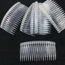 7x5 см 15 зубов Необычные DIY пластмассовая заколка для волос Расческа для женщин Свадебная вуаль держатель прозрачный инструмент красоты вуаль аксессуары