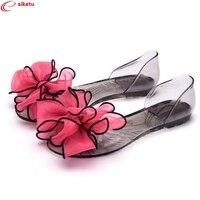 Charming Nice Siketu Women Sandals Elegant Shoesl Jelly Flower Flats Sandals Jn19