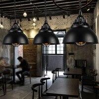 Ретро Винтаж веревка Подвесные светильники Лофт винтажная лампа ресторан спальня столовая подвесной светильник веревка свет