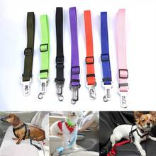 Vehicle Car Pet dog Seat Belt Puppy Seatbelt Harness Lead Clip Dog Supplies Safety Lever Auto Traction Products