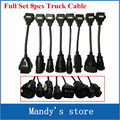 Newest Full Set 8 Truck Cables OBD2 Diagnostic OBD OBDII OBD 2 Connect Cable For TCS CDP Pro