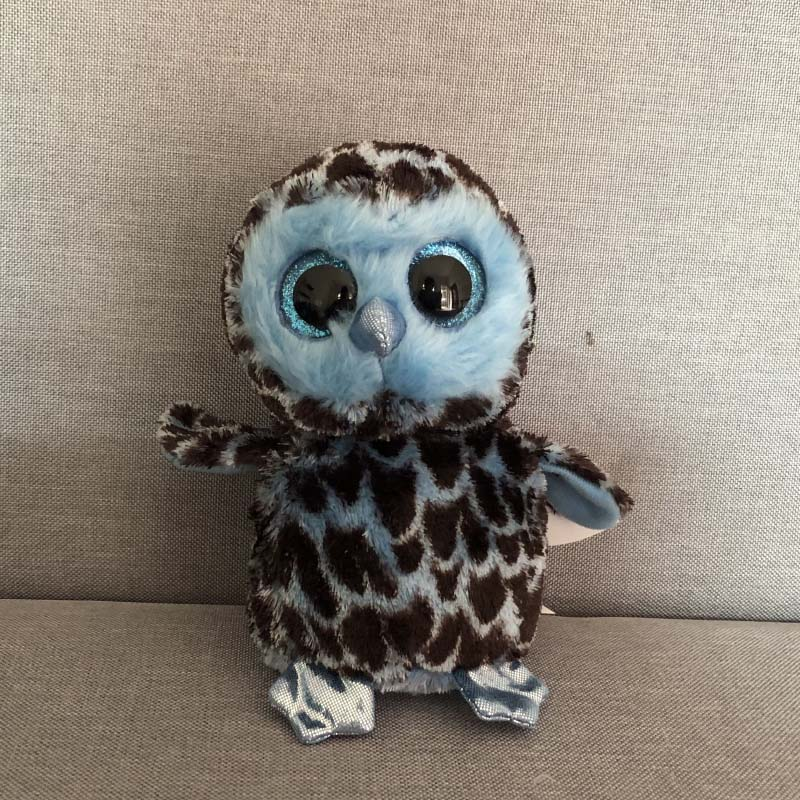 09a61e9519b Ty Beanie Boos 6   15cm YAGO Blue Owl Unicorn Plush Regular Soft Big eyed Stuffed  Animal Collection Doll Toy-in Stuffed   Plush Animals from Toys   Hobbies  ...