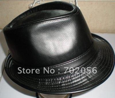 Imitate LEATHER BUCKET HAT Solid Mens Fedoras Top Hats Goat GENTLEMAN HAT  CAP 10pcs lot  2286 55d98e2c6d9