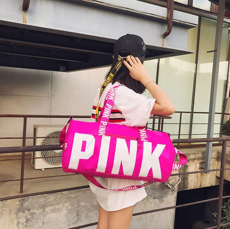 Pink Duffel Bags Unisex Travel Bag Waterproof Victoria Casual Luggage Canvas Secret Stor ...
