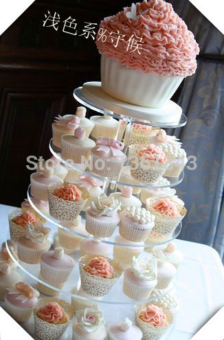 Wholesale Round 5 Tier Large Cupcake Stand Free Charge Of Shipping