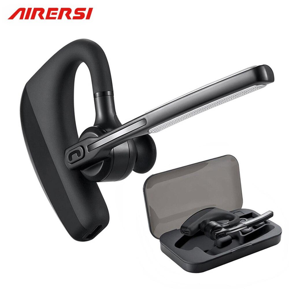 K10 de Negocios Bluetooth Wireless Headset Manos Libres estéreo Bluetooth Reducción de Ruido Auriculares Auriculares inalámbricos con la caja