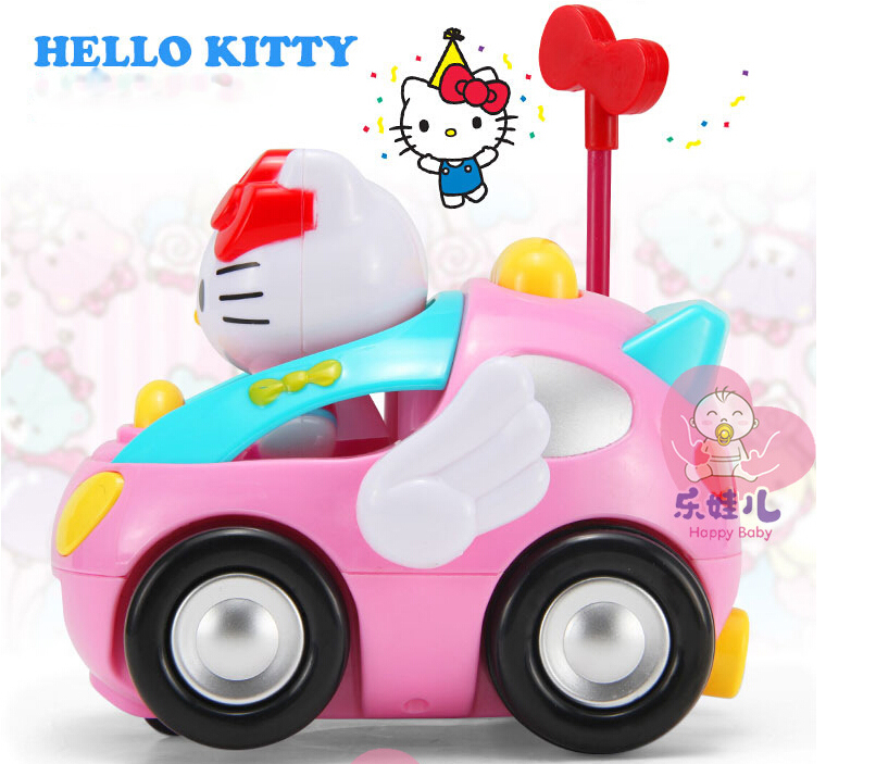Cartoon Children Rc Toy Hello Kitty Kt Cat Remote Control Car Pink