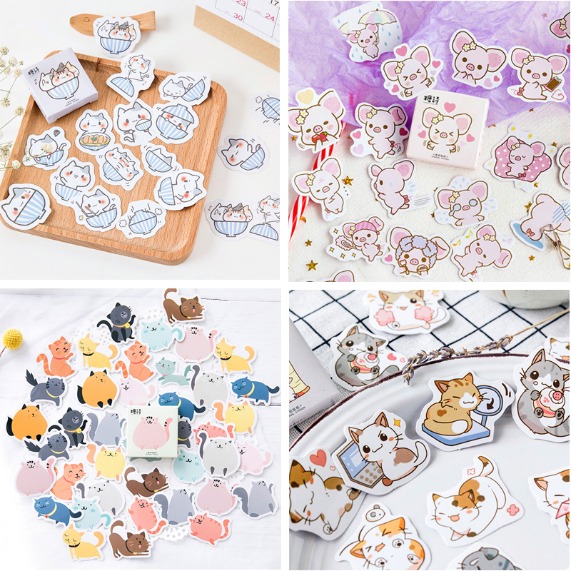 45Pcs Cute Cat Stickers Kawaii Animal Stationery Stickers Bullet Journal Stickers For Kids DIY Diary Scrapbooking Decor Supplies45Pcs Cute Cat Stickers Kawaii Animal Stationery Stickers Bullet Journal Stickers For Kids DIY Diary Scrapbooking Decor Supplies