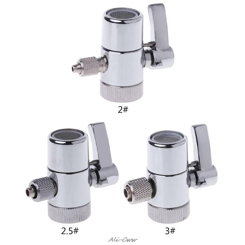 Faucet-Adapter Valve-Counter Diverter-Valve WATER-FILTER 3/8--Tube-Connector Top Ro-System