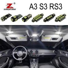 Bianco 100% Canbus Free error LED interno della cupola mappa luce ambientale Kit per Audi A3 S3 RS3 8L 8 P 8 V (1996-2015)