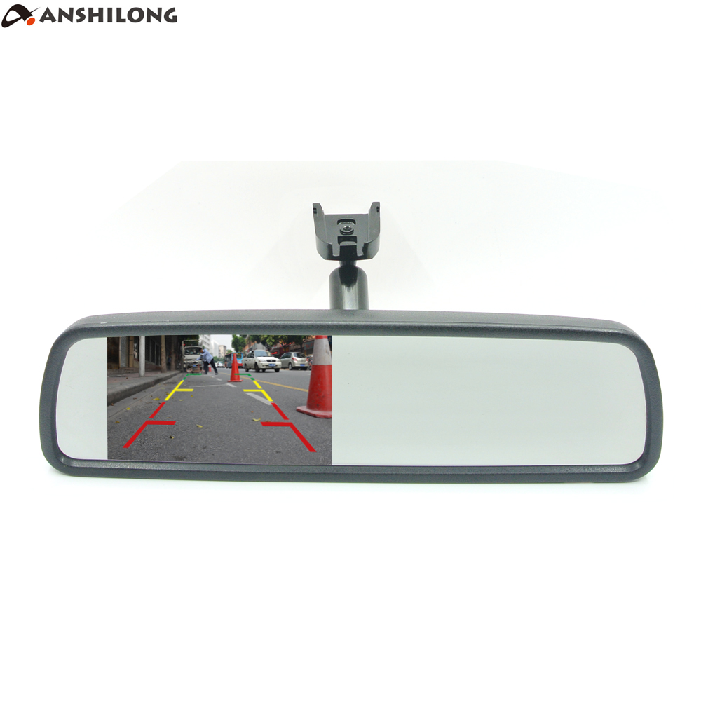 Anshilong 43 Tft Lcd Rear View Mirror Car Monitor Video Input 2ch 93 Gm Wiring Interior Replacement Built In Oem