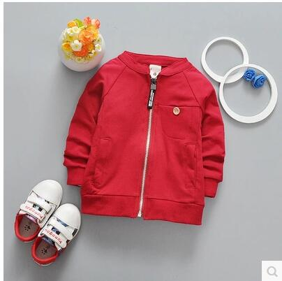 heat! retail 2016 new autumn baby boys and girls 100% cotton coat jacket zipper shirt brand children's clothing Free shipping