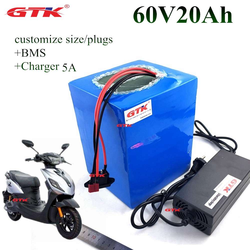 For 18650 Cells E Bike Battery 60v 20ah With 5a Charger