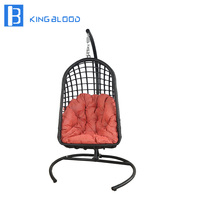 factory price patio rattan wicker hanging egg swing chair for outdoor