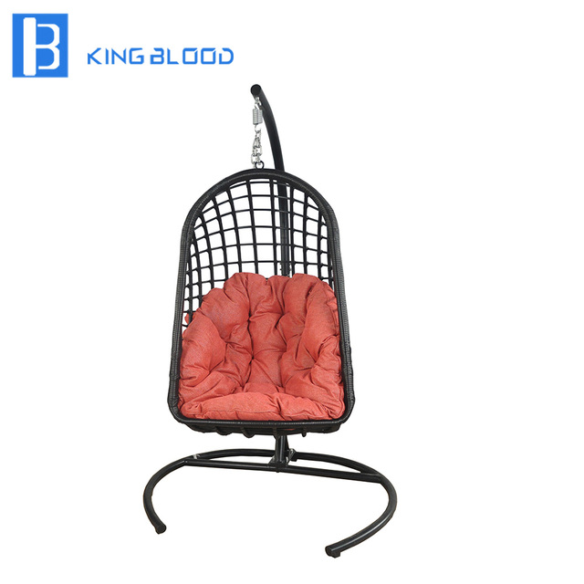 Factory Price Patio Rattan Wicker Hanging Egg Swing Chair For
