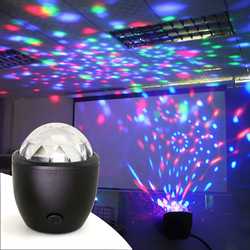 Tanbaby Mini 3W USB alimentado Som actived Multicolor Disco luz do estágio bola mágica lâmpada de efeito para o aniversário, partido, Concerto etc.
