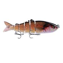 1PCS Fishing Lure Multi Jointed Hard Bait 12cm 18.5g Lifelike joint bait Wobblers 6 Segments Swimbait Crankbait