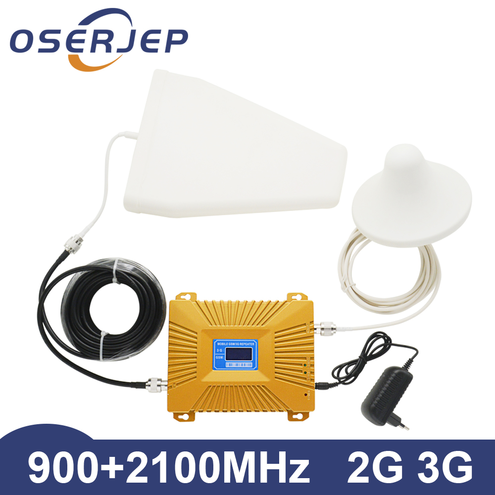 UMTS Gsm 2g 3g 4g WCDMA 2100mhz 900mhz Smart Dual Band 900 2100 Repeater Cell Mobile