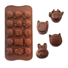 Non-stick Silicone Chocolate Molds Animal Shaped Jelly Ice Molds Cake Mould Bakeware Baking Tools