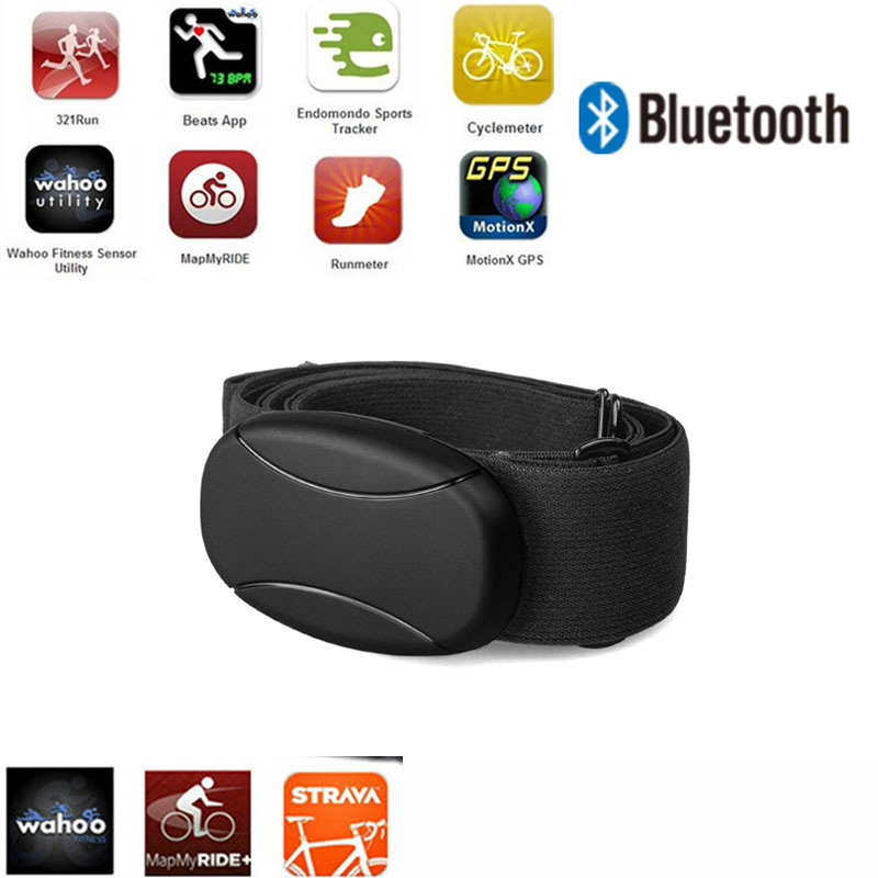 Heartbeat Bluetooth Para Garmin Polar Wahoo RUNTASTIC STRAVA ENDOMONDO TomTom IPhone Chest Strap Heart Rate Monitor HRM Sensor