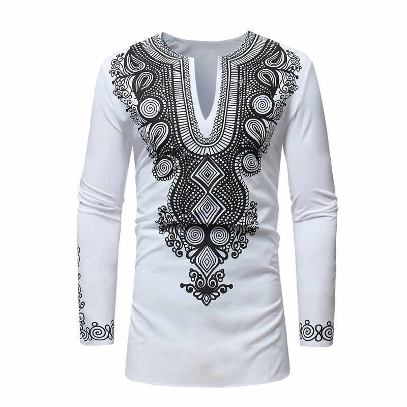 Mens Hipster V Neck T Shirt African Clothes 2018 Fahsion African Dashiki  Traditional Dashiki Maxi Man 4c25395b0
