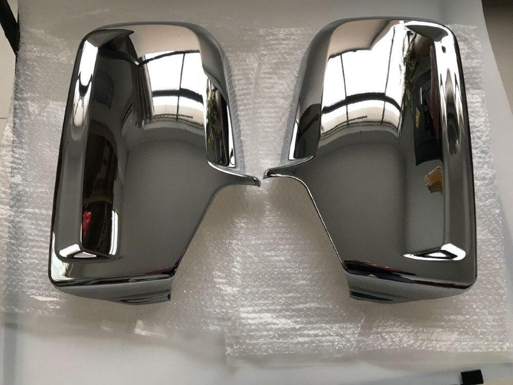 الكروم باب السيارة الجانب غطاء لمرايات السيارة الجانبية لمرسيدس العداء VW Crafter 2006 +