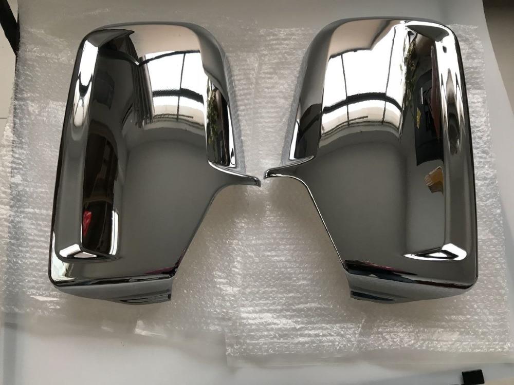 크롬 자동차 도어 사이드 윙 미러 커버 메르세데스 단거리 선수 폭스 바겐 Crafter 2006 +
