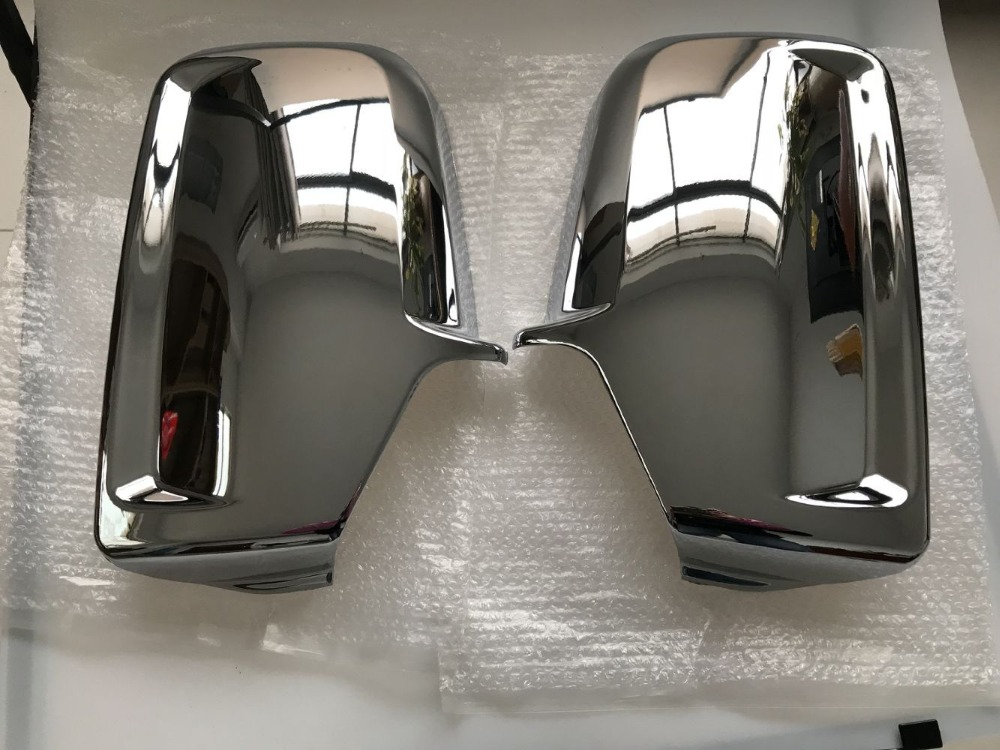 Chrome ประตูรถด้านข้างกระจกสำหรับ Mercedes Sprinter VW Crafter 2006 +