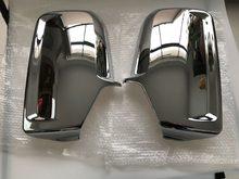 Tampa lateral do espelho da porta do carro cromado, para mercedes sprinter vw crafter 2006 +