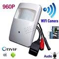 960 P mini câmera ip wifi ONVIF Câmera Ip Pir Estilo Covert PIR Câmera IP para 3.7mm lente de Segurança P2P Sem Fio Do Telefone Móvel câmera
