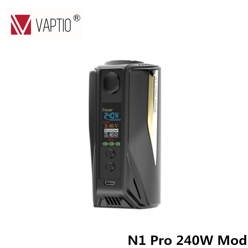 100% Original Vaptio 240W TC Box Mod Temper Control E cigarette Mod VW/TC Modes Powered by 2/3x18650 Battery Without Battery