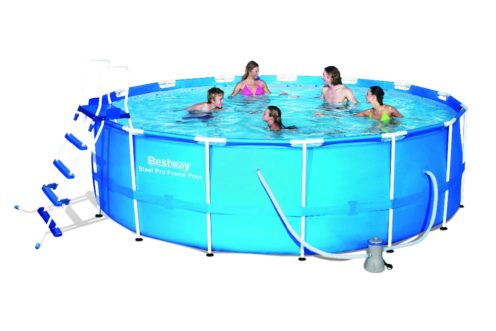 56438 Dia15 Ht4 Feet Bestway Outdoor Circle Thick Pool Dia457 Ht122cm Large Round Frame Swimming