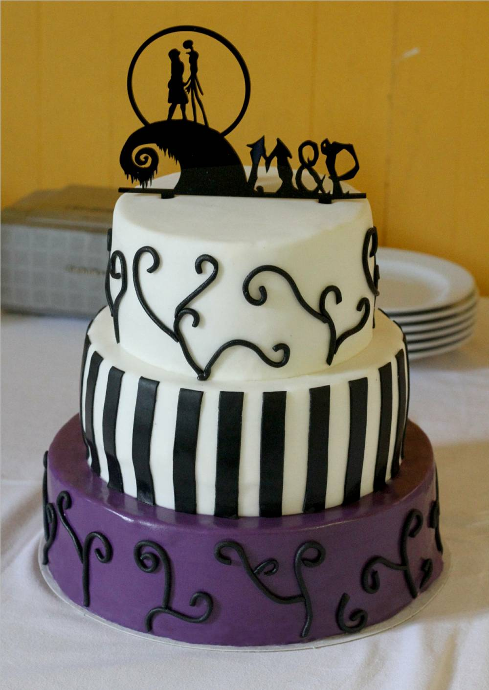 The Nightmare Before Christmas cake topper acrylic wedding cake ...