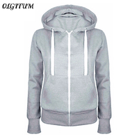 HOT SALE 2016 Hoodies Sweatshirt Ladies Women Men Coat Top NEW 5 Colors Unisex Plain Zip