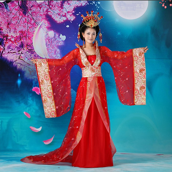 Chinese Ancient  Kids Hanfu Princess Dramaturgic Show Costume Robe Cosplay Dress