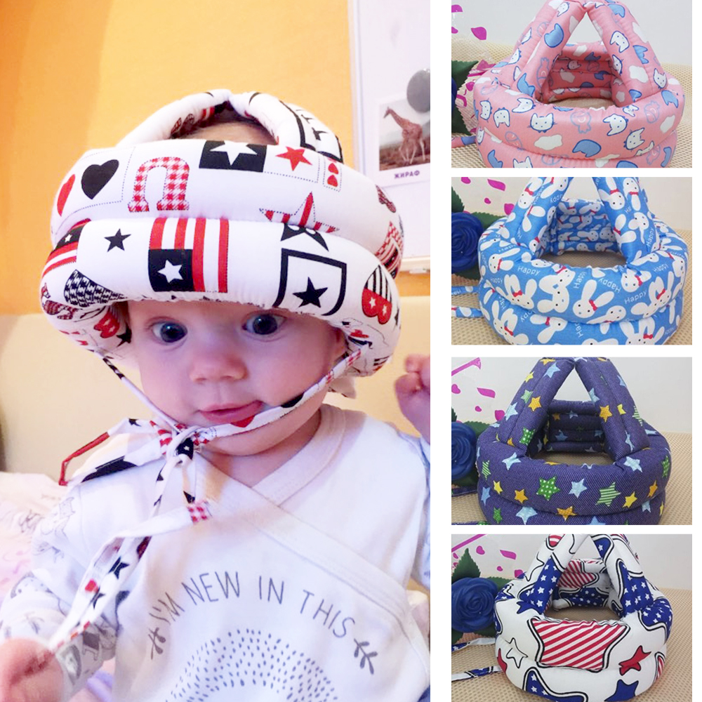Baby Protective Helmet for Kids Safety Helmet Babies Walking Running Headwear Head Protection Soft Baby Safety Helmet Child Hats baby safety helmet toddler headguard hat protective infants soft cap adjustable for crawl walking running outdoor playing