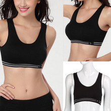 Summer Style Women Cotton Stretch Athletic Vest Gym Fitness Sports Bra no rims Full Cup padded bras colorful plus size tops