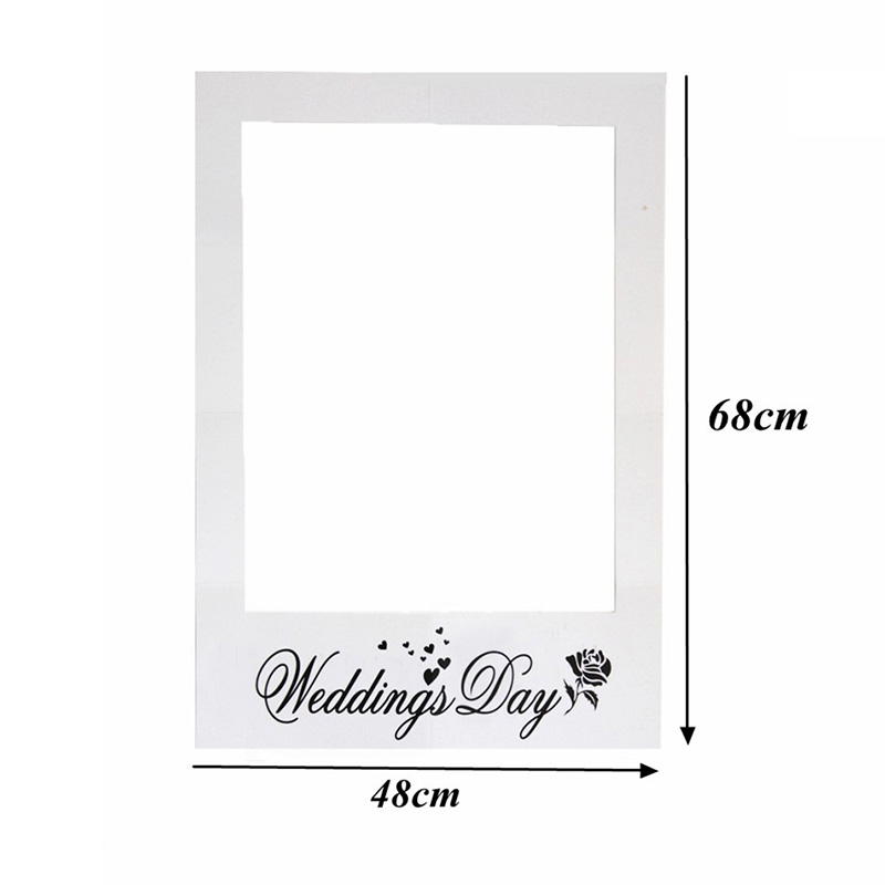 Wedding Decoration Photo Booth Props Wedding Day Paper Picture Frame ...