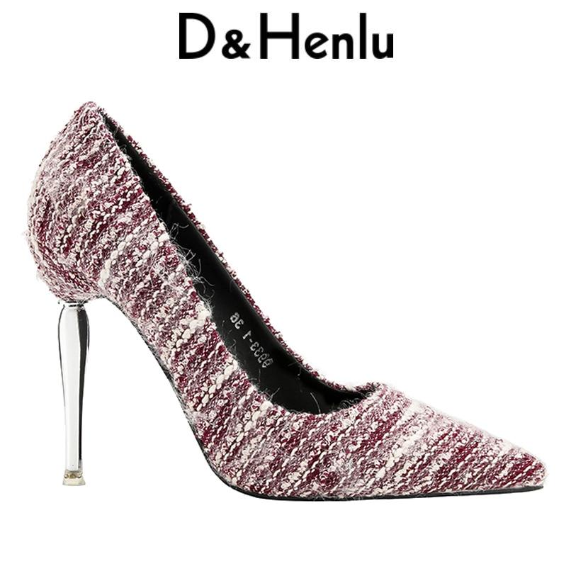 {D&Henlu}zebra stripe flock ladies pumps fashion high heel women's strange style shoes ladies strange style high heels pumps apopeo design brand ladies shoes black beige patent leather pumps 8 cm high heels shoes elephant strange style pumps 2018 newest