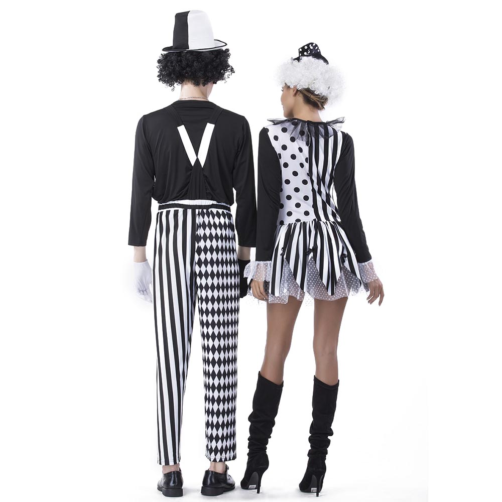 Adult Jester Couples Costumes Deluxe Freaky Killer Clown Costume Diamond Stripes Pattern Outfit Scary Halloween Fancy Dress -in Holidays Costumes from ...  sc 1 st  AliExpress.com & Adult Jester Couples Costumes Deluxe Freaky Killer Clown Costume ...