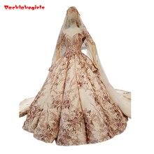 Backlakegirls Vintage Ball Gowns Wedding Dress Royal Train