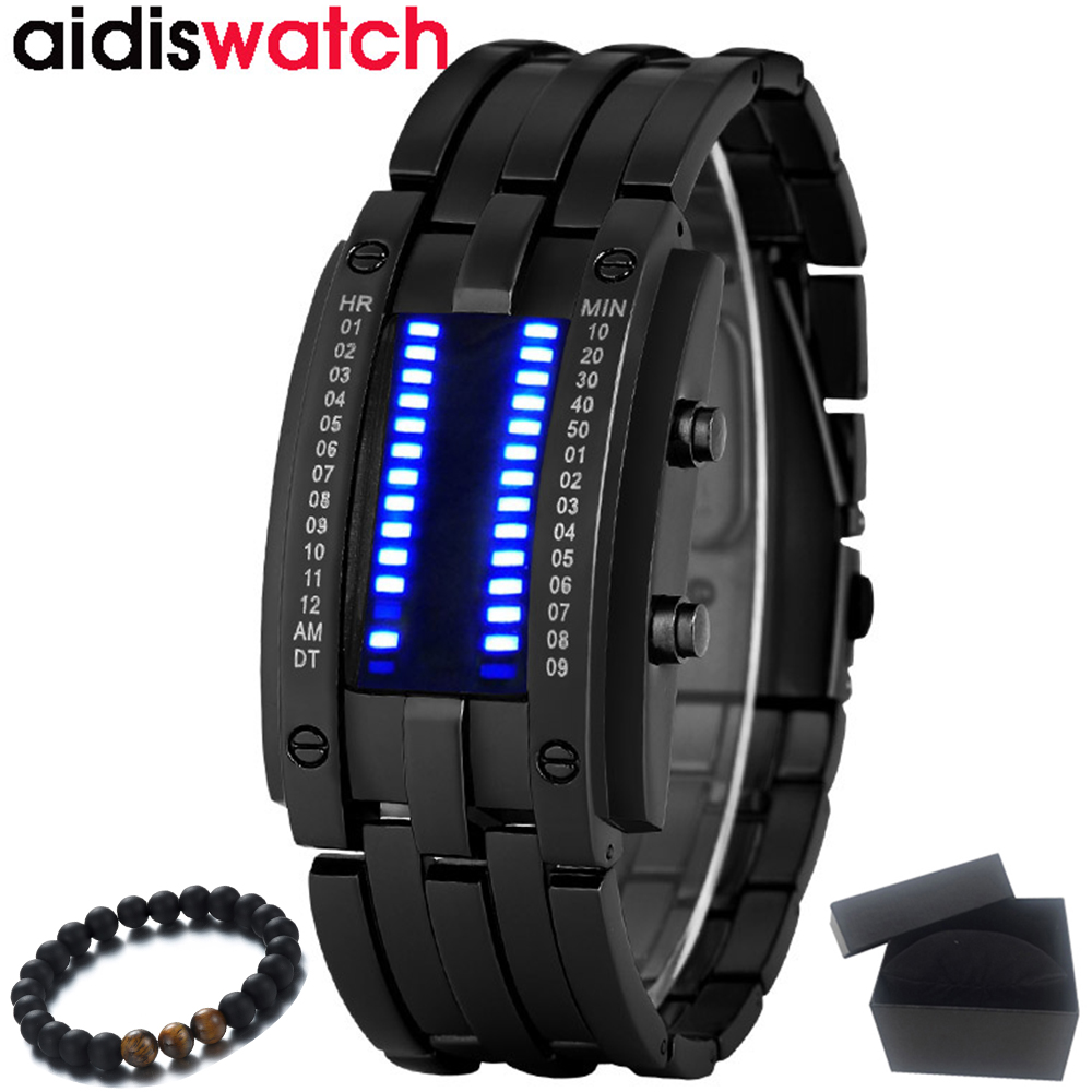 Men Watches Aidis Top Luxury Brand Digital LED Display Waterproof Lover's Watches Sports Military Wristwatches Relogio Masculino